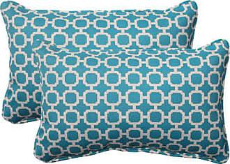 Pillow Perfect Indoor/Outdoor Hockley Corded Rectangular Throw Pillow, Teal, Set of 2