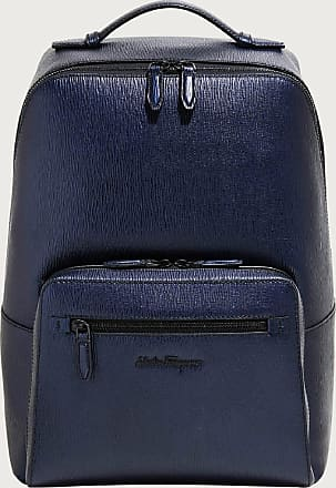 Salvatore Ferragamo Men Backpack Blue