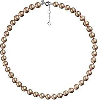 Misaki Collier ras de cou Bb de perles bronze