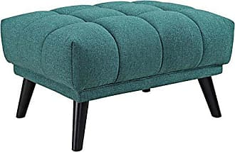 ModWay Modway Bestow Upholstered Fabric Button-Tufted Ottoman In Teal
