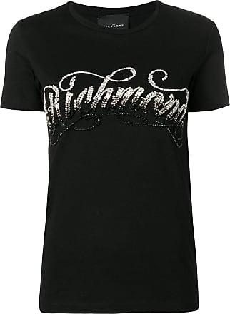 John Richmond Camiseta com paetês e tachas - Preto