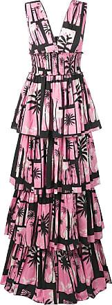 FAUSTO PUGLISI Vestido com estampa tropical - Rosa
