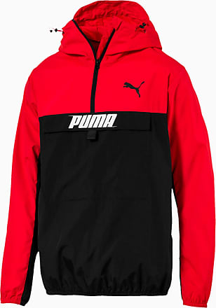 Puma Herren Jacke mit halblangem Reißverschluss | Mit Aucun | Rot | Größe: XXL