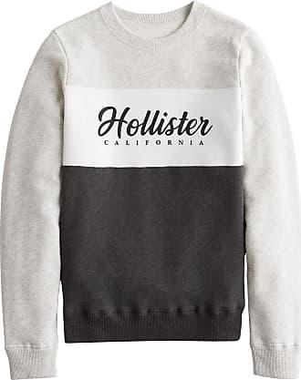 Hollister Sweatshirt graumeliert / weiß / schwarz