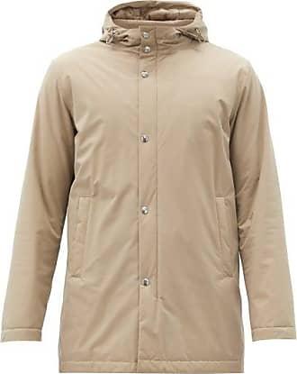 Herno Hooded Technical Parka Jacket - Mens - Beige