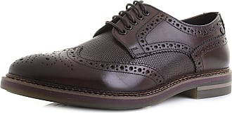 Base London Rothko Mens Leather Brogue Shoes Waxy Brown 40