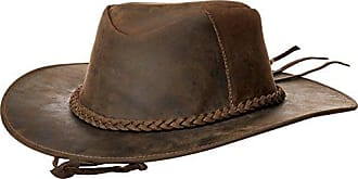 World Traveler Unisex-Adults Outback Style Handmade Cowhide Leather Hat (Ecuador) -XXL, Brown, XX-Large
