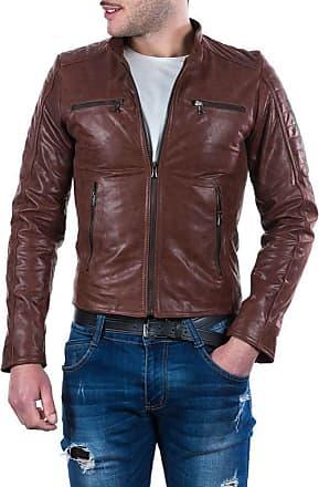 Leather Trend Italy U05 - Giacca Uomo in Vera Pelle colore Marrone Oil Vintage