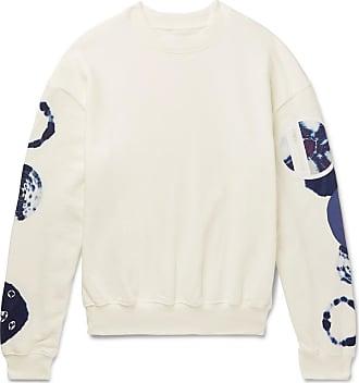 KAPITAL Oversized Nylon-trimmed Loopback Cotton-jersey Sweatshirt - White