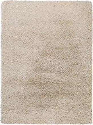 benuta Langflor Teppich für Schlafzimmer und Wohnzimmer Tappeto, Fibra Sintetica, Beige, 80 x 150 cm