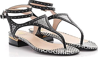 Lanvin Sandals snake skin black