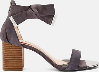 Ted Baker Block Heel Suede Sandal in Charcoal LOOPIE, Womens Accessories