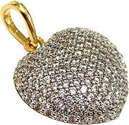 Prado Joias Pingente Em Ouro 18k Coração Cravejado De Zircônia