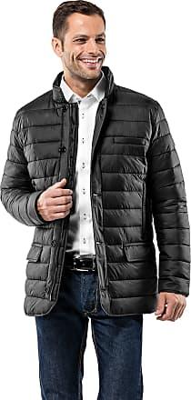 Vincenzo Boretti Mens Jacket Blazer Design Slim-fit Fitted Quilted Soft Long-Sleeve Lightweight Warm Smart Elegant Men Designer Padded Jacket Black XL