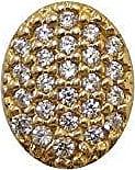 Prado Joias Pingente Em Ouro 18k Ponto De Luz Oval Com Zircônias