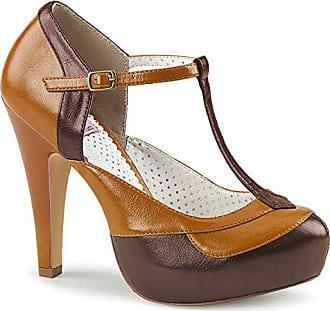 658e944a399e07 Higher-Heels Pinup Couture Damen T-Riemchen Pumps Bettie-29 braun-Maple
