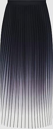 Reiss Mila - Ombre Pleated Midi Skirt in Black/ecru, Womens, Size 12