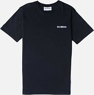 Han Kjobenhavn Großes schwarzes Logo lässiges T-Shirt - L