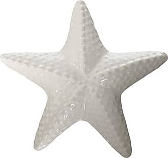 Urban Trends Collection Urban Trends Ceramic Red Knobbed Sea Star Figurine with Gloss Finish, White