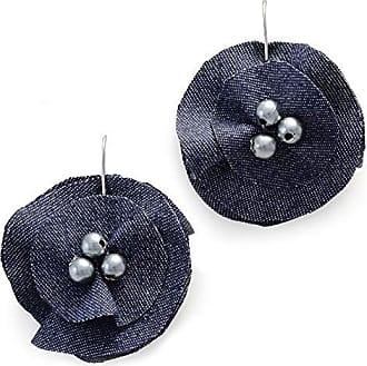 Tinna Jewelry Brinco Prateado Flor Jeans