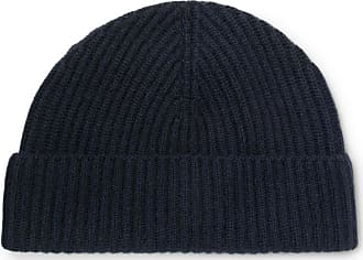 Lock & Co Hatters Ribbed Cashmere Beanie - Navy