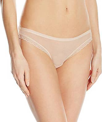 7bd23192a400 OnGossamer Womens Intimate Apparel Next to Nothing Mesh Low-Rise Bikini  Panty, Champagne,