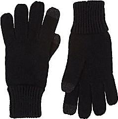 Barneys New York Womens Tech-Smart Stockinette-Stitched Gloves - Black