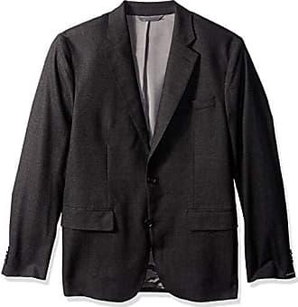 J.Lindeberg Mens Italian Wool Flannel Blazer, Dark Grey, 46