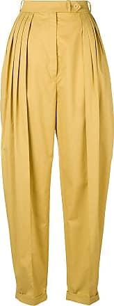 Nina Ricci high waist baggy trousers - Amarelo