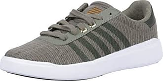 K-Swiss Womens Heritage Light T Sneaker Burnt Olive/Forest Night 6.5 M US