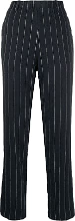 Forte_Forte pinstriped trousers - Black