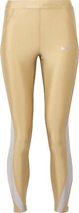 f72aa9c07f2e0 Nike Speed Cropped Paneled Metallic Dri-fit Stretch Leggings - Gold