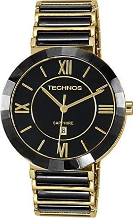 Technos Relógio Feminino Technos Ceramic 2015BV/4P - Dourado/Preto