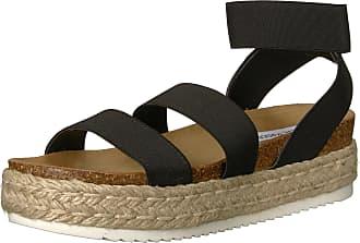 Steve Madden Womens Kimmie Wedge Sandal, Black, 6 UK