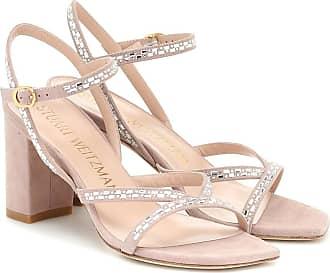 Stuart Weitzman Harlowe embellished suede sandals