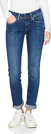 Pepe Jeans London Womens New Brooke Jeans, Dark Used Denim Cn6, 33W / 32L