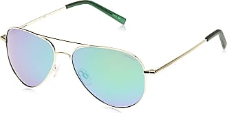 Polaroid Unisexs PLD 6012/N K7 J5G Sunglasses, Gold/Green Grey Speckled Pz, 56