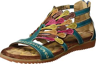 Laura Vita Womens VACA Open Toe Sandals Turquoise (Turquoise), 39