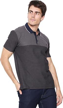 3e1be6b959 Dudalina Camisa Polo Dudalina Reta Logo Grafite