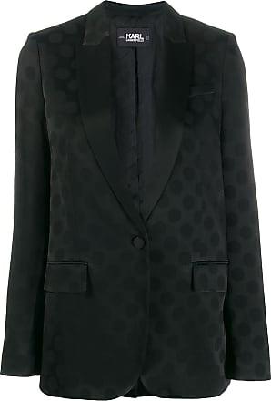 Karl Lagerfeld Blazer de alfaiataria Karl com poás - Preto