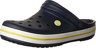 Crocs Unisex Crocband Clog, Navy/Citrus, 10 US Men / 12 US Women
