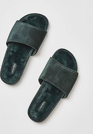 Hunkemöller Fake fur velour slippers Green 4