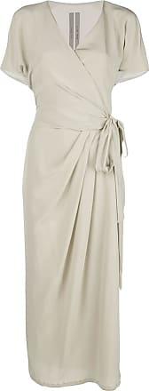 Rick Owens Vestido com detalhe de amarração - Cinza