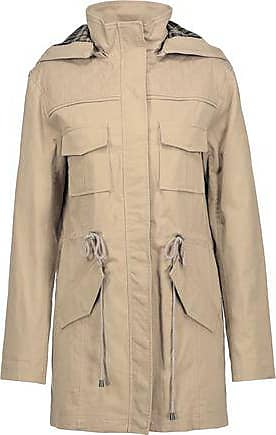 Alice & Olivia Alice + Olivia Woman Atticus Cotton-blend Hooded Jacket Sand Size XS