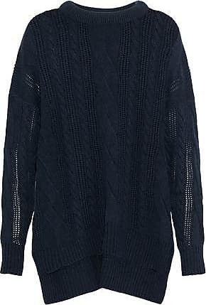 N.Peal N.peal Woman Cable-knit Cashmere Sweater Navy Size XS