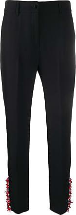 Blumarine Calça cintura alta com aplicações - Preto