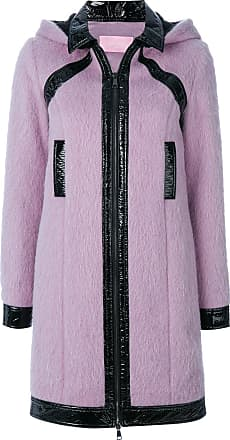 Giambattista Valli patent detail hooded coat - Pink