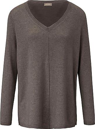 include V-Pullover aus 100% Premium- Kaschmir include beige