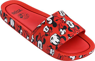 Melissa Beach Slide + Mickey And Friends (Vermelha/Branca)