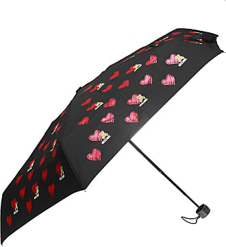 Moschino Patterned Umbrella Mens Black